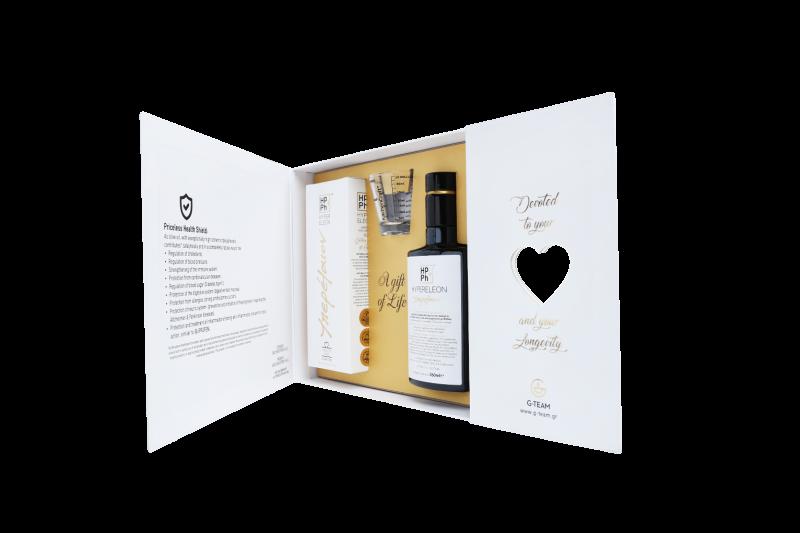 <center>''Τhe Golden Secret of olive''</center><center>Ένα Δώρο Ζωής,</center><center>για εσάς και τους αγαπημένους σας.</center><center>Πακέτο 2 HYPERELEON GOLD</center>